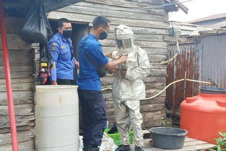 Evakuasi Sarang Tawon di Jl. Panglima Rt.08