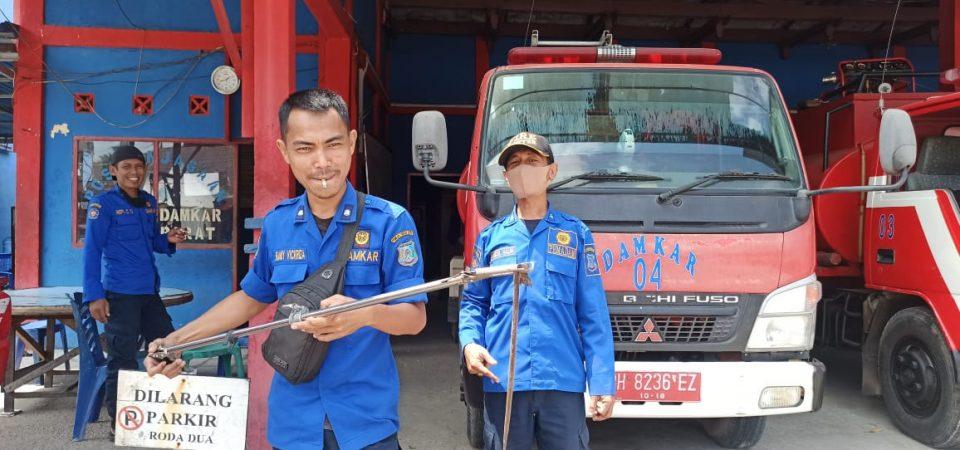 Evakuasi Ular di Jl. Siswa Rt.04