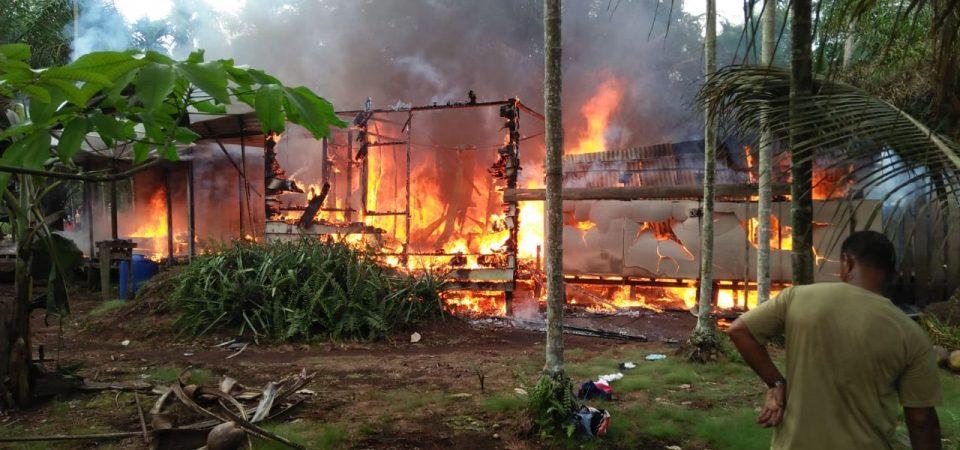 Kebakaran Desa Margo Rukun