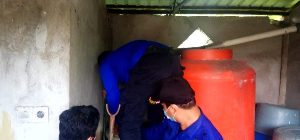 Evakuasi Ular BTN Permata Hijau Blok I