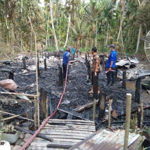 Insiden Kebakaran di Dusun Tj. Baru Desa Sei. Jering Kec. Pengabuan